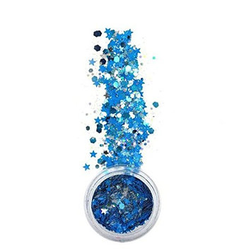 iHeartRaves Chunky Sirius Glitter for Festivals Beauty Makeup Face Body Hair Nails Raves
