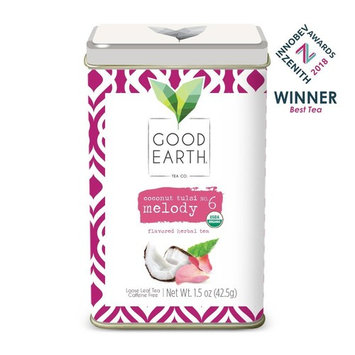 Good Earth Tea Coconut Tulsi Melody - Premium Organic Loose Leaf - Full-bodied herbal tea with hints of coconut - Caffeine-free