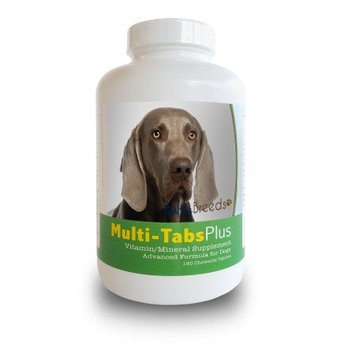 Healthy Breeds 840235140863 Weimaraner Multi-Tabs Plus Chewable Tablets 180 Count