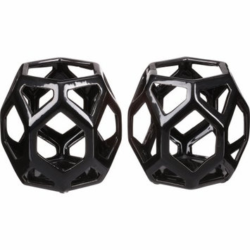 Better Homes and Gardens Ceramic Geometric Votive Candle Holders, Set of 2