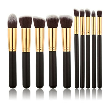 Kaidifangte 10 PCS Professional Makeup Set Pro Kits Brushes Makeup Cosmetics Brush Tool