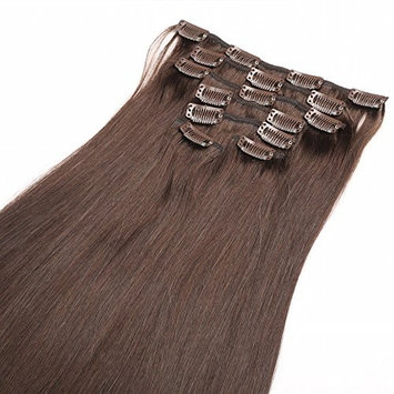 Furice Human Hair Extensions Brazilian Virgin Hair 16 Inches 70g 7pcs/pack Straight 3/4 Full Head Remy Clip on Hairpieces