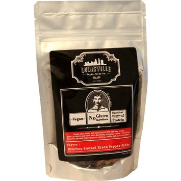 Louisville Vegan Jerky - Smoked Black Pepper, Vegetarian & Vegan Friendly Jerky, 21 Grams of Non-GMO Soy Protein, Gluten-Free Ingredients (3 oz.)