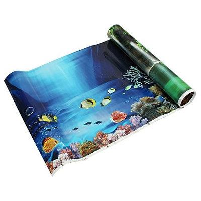 SODIAL(R) Blue Fresh Sea Background Aquarium Ocean Landscape Poster Fish Tank Background