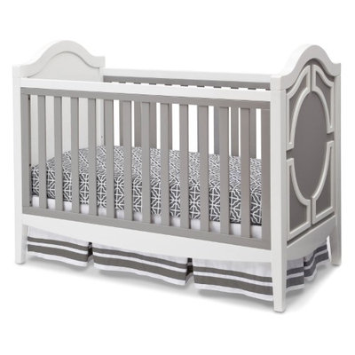 Delta Enterprise Corp Simmons Kids Hollywood 3-in-1 Convertible Crib Gray / White