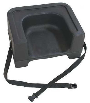 CARLISLE 7111-403 Booster Seat with Strap, Black, PK4