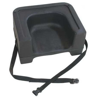CARLISLE 7111-403 Booster Seat with Strap, Black, PK4