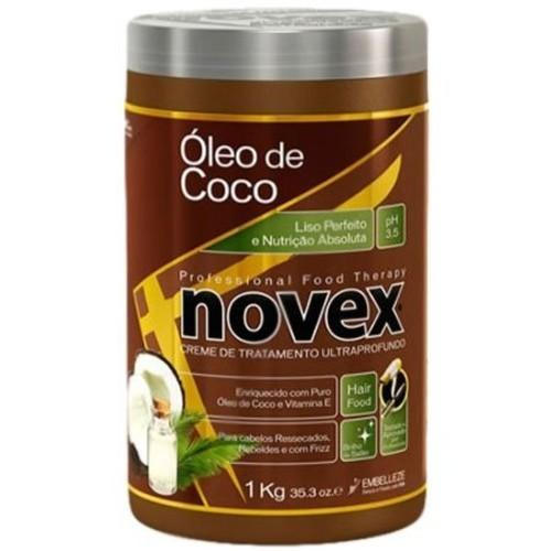 Embelleze Novex Coconut Oil Hair Care Treatment Cream - 35.3 Oz | Embelleze Novex Creme de Tratamento Capilar com Óleo de Coco - 1Kg