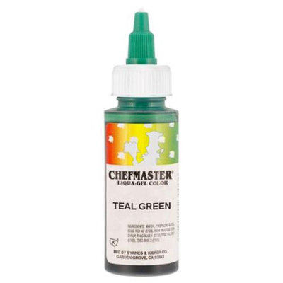 Chefmaster by US Cake Supply 2.3-Ounce Teal Green Liqua-Gel Cake Food Coloring