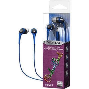 Maxell Earbud - Binaural - Open - Mini-phone - Blue, Silver 190250