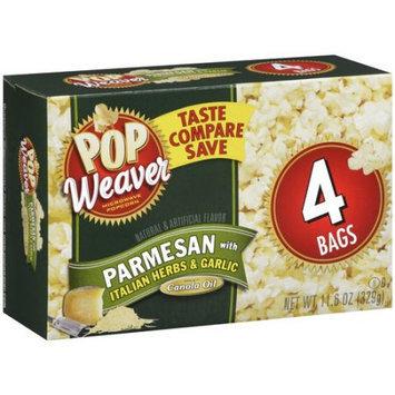 Pop Weaver Parmesan Popcorn with Italian Herbs & Garlic, 4ct
