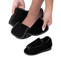 Womens Extra Extra Wide Width Adjustable Slippers - Diabetic & Edema Footwear