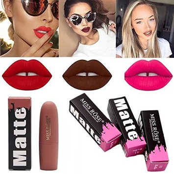 Outtop Waterproof Matte Dark Lipstick All Day Lipcolor Red Pink