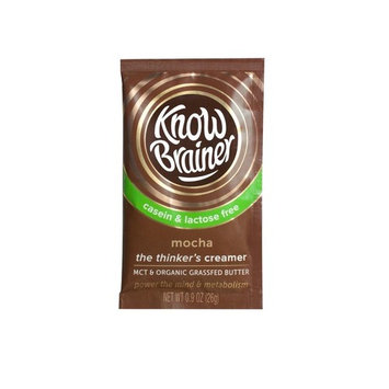 Know Brainer The Thinker's Creamer Mocha -- 9 Squeeze Packs