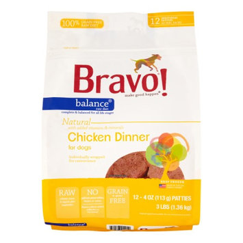 Bravo Balance Chicken Patties Frozen Raw Pet Food