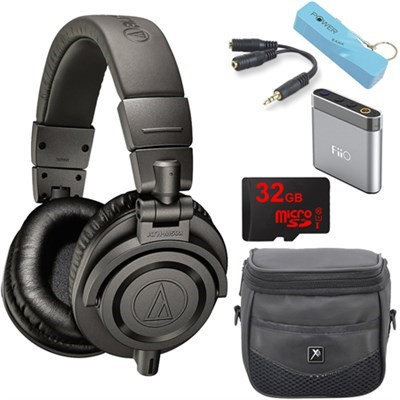 Audio-Technica ATH-M50xMG Limited Edition Professional Studio Monitor Headphones E6 Amp Bundle