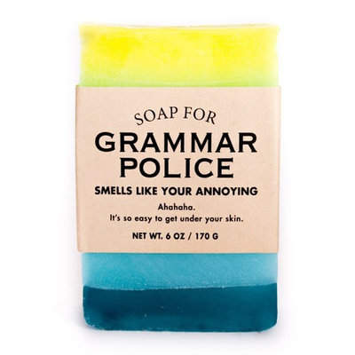 Whiskey River Soap Co. - Soap for Grammar Police, 6 oz, Jelly Doughnut scented