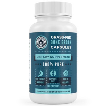Organic, Grass-Fed Bone Broth Protein Powder Capsules - Protein, Collagen Supplement. Supports Nails, Hair, Joints and Gut Health. Organic Left Coast...