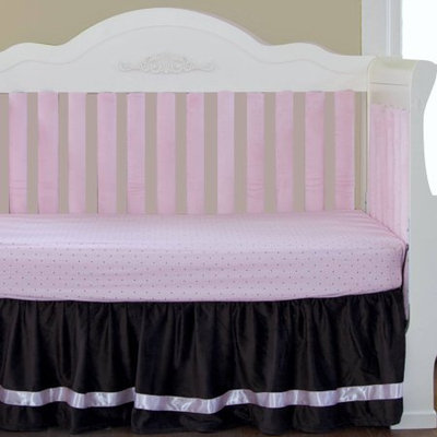 Go Mama Go Designs Luxurious Chocolate Minky with Pink Satin Trim 16