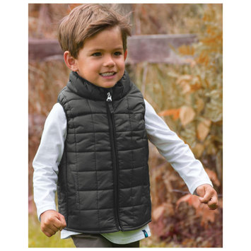 Cozy Cub Baby and Toddler Boy Winter Vest - Water Resistant and Insulated - Black