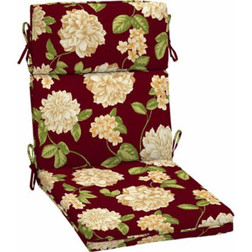 Better Homes and Gardens Outdoor Dining Chair Cushion, Red Peony