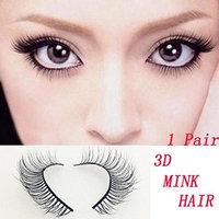 False eyelashes, Yezijin 1 Pair Luxury 3D Mink hair False Lashes Fluffy Strip Eyelashes Long Natural