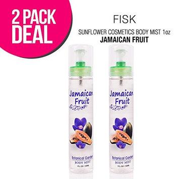 (2 PACK) SUNFLOWER Cosmetics Body Mist 1oz (Jamaican Fruit) : Beauty