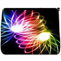 Light Fantastic Colours & Lights Black Large Messenger School Bag [Light Fantastic Colours & Lights]