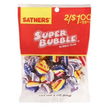 Sathers Super Bubble, 2-Ounce Bags (Pack of 12)
