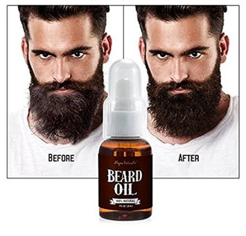Alayna Beard Oil and Beard Comb Kit 100% Pure & Natural Unscented - Best for Groomed Beard Growth, Mustache, Face and Skin Softens Your Beard and Stops Itching