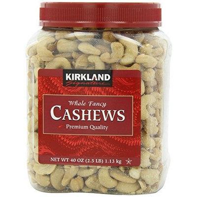 Signature's Cashews, 40 Ounce (2 Pack) by Kirkland Signature