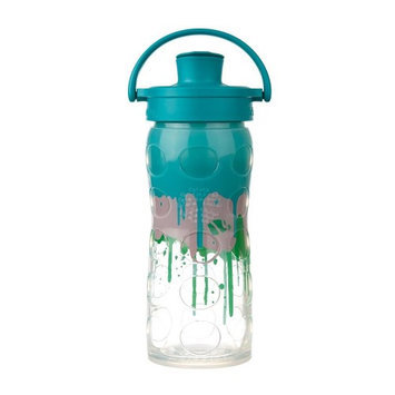 Glass Bottle with Active Flip Cap Ultramarine Splash Lifefactory 16 oz Bottle