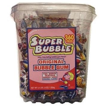 Super Bubble 360 Pieces 4lbs 0.8oz Tub - Original Flavor