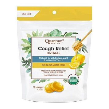 Quantum 231742 18 Count Cough Relief Meyer Lemon & Honey Lozenges Bag
