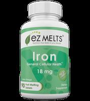 EZ Melts - Iron Natural Orange Flavor 18 mg. - 90 Tablets