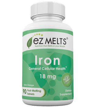 EZ Melts - Iron Natural Orange Flavor 18 mg. - 90 Tablets