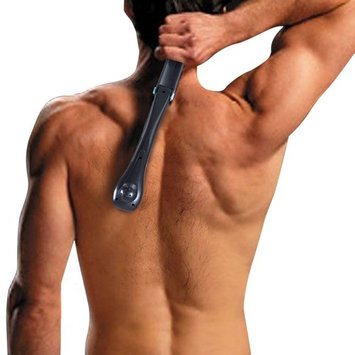 nj365 Electric Back Hair Shaver, Foldable DIY Body Groomer for Back Hair Removal with Blade Brush