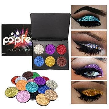 Exteren Shimmer Glitter Eye Shadow Powder Palette Matte Eyeshadow Cosmetic Makeup Eyeshadow Palette Pallets Primer Eyeshadow With Glitter