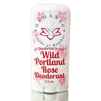 Organic Fields of Heather Wild Portland Rose Organic & Natural Deodorant With Botanically Infused Ingredients, 2.5 fl. Oz