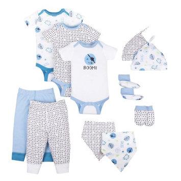 Little Star Organic Baby Boy Baby Shower Essentials Gift Set, 11pc