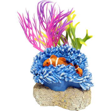 EXOTIC ENVIRONMENTS AQUATIC SCENE WITH CLOWNFISH