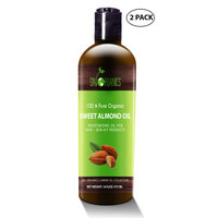 Best Sweet Almond Oil by Sky Organics 16oz-(2 pack)100% Pure, Cold-Pressed, Organic Almond Oil. Great As a Baby Oil- Works Wonder On Wrinkles- Anti-Aging. Almond Oil- Carrier Oil for Massage