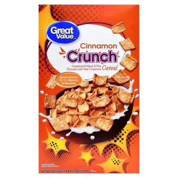 Wal-mart Store, Inc. Great Value Cinnamon Crunch Cereal, 20.25 oz