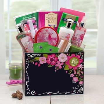 Gift Basket 8413912 Exotic Getaway Spa Gift Box w/ Exotic Pink Lily