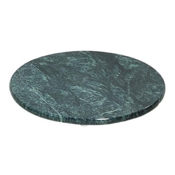 Evco International 74078 Green Marble 8 in. Round Trivet