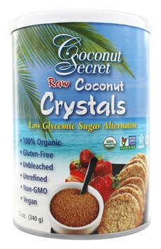 Coconut Secret - Raw Coconut Crystals Low Glycemic Sugar Alternative - 12 oz(pack of 2)
