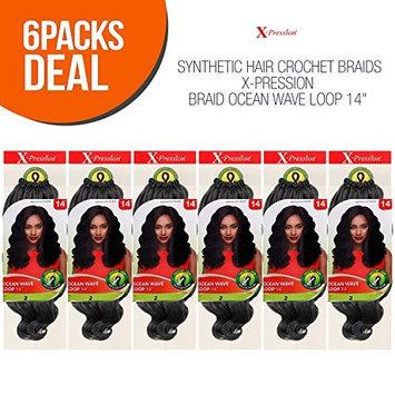 MULTI PACK DEALS! Outre Synthetic Hair Crochet Braids X-Pression Braid Ocean Wave Loop 14