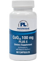 Progressive Laboratories - CoQ10 Plus E 100 mg. - 60 Capsules