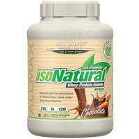 ALLMAX Nutrition, IsoNatural, 100% Ultra-Pure Natural Whey Protein Isolate, Chocolate, 5 lbs [Flavor : Chocolate]