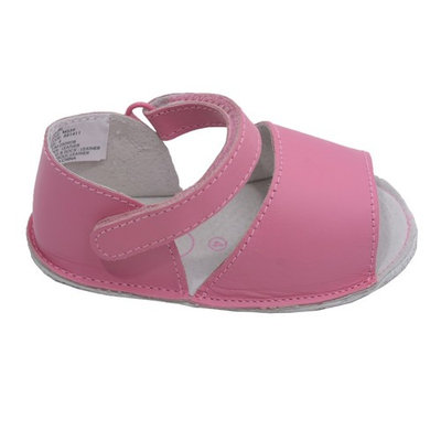 Angels Toddler Girls Fuchsia Open Toe Velcro Strap Crib Sandals 4-5 Toddler